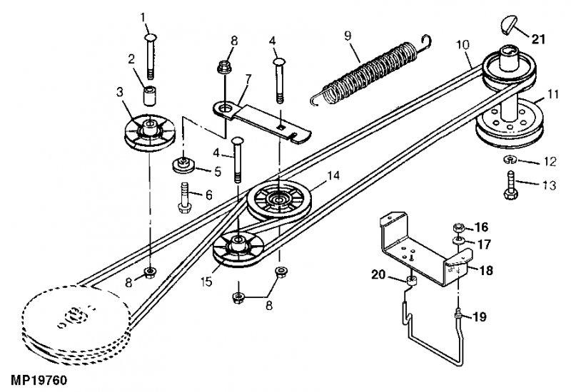 belt diagram on john deere scott riding mower