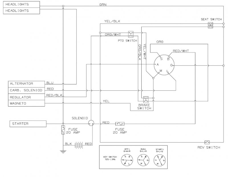Wiring diagram for bolen riding mower