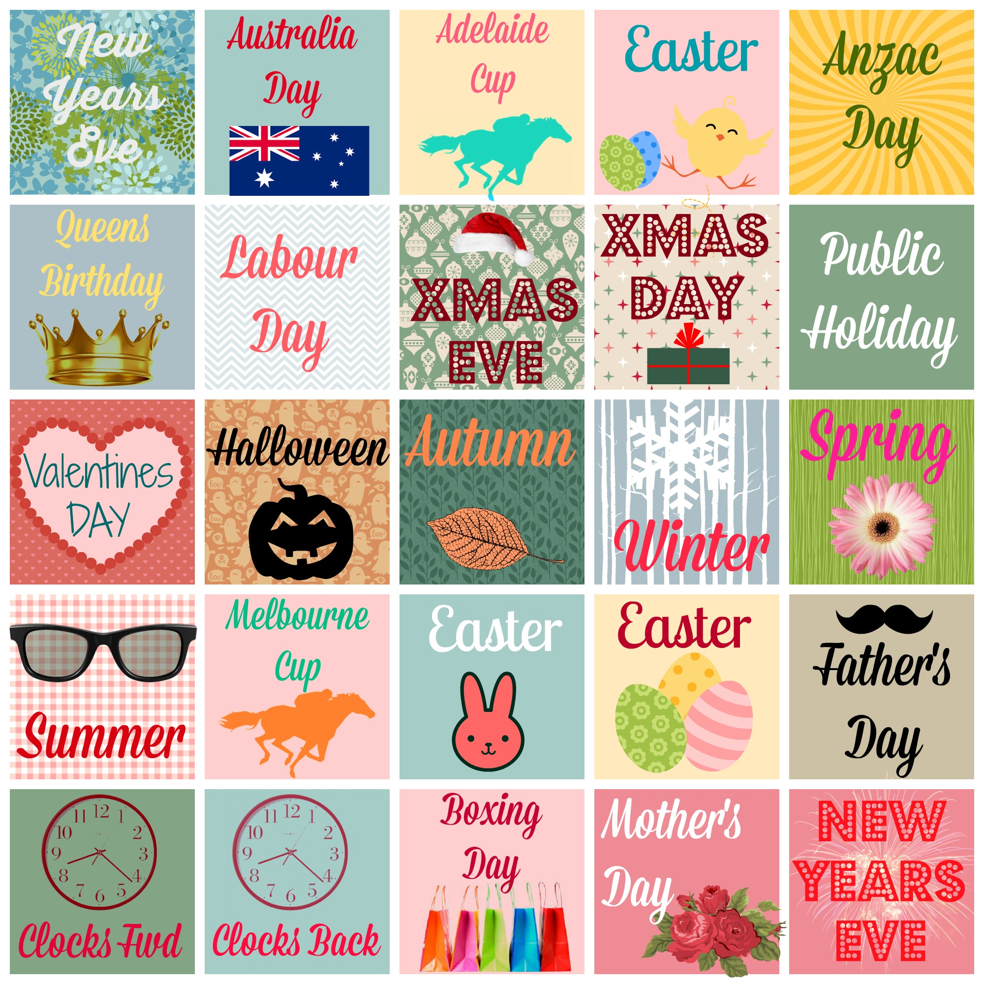 Free Printable Planner/Diary Stickers {Australian Occasions, Holidays ...