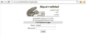 Mail Server SquirrelMail Frontend Login