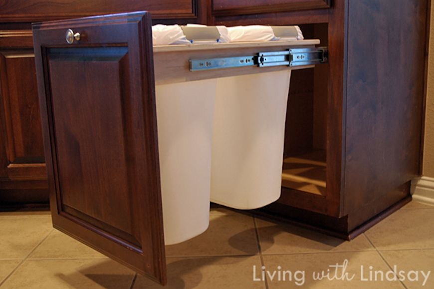 Ask Wet \ Forget Clever Can Camo 5 Creative Ways to Hide your - kitchen trash can ideas