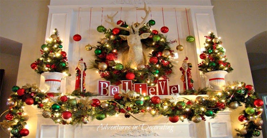 Ask Wet \ Forget DIY Mantel Christmas Decoration Ideas Ask Wet - christmas mantel decor