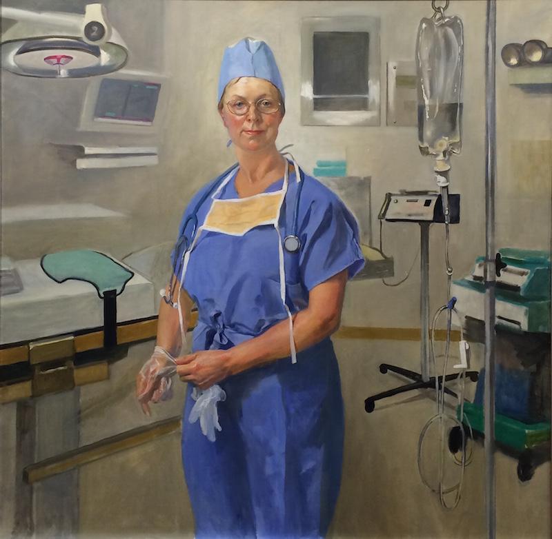 Leonid Gervits,Portrait of surgical nurseoil on canvas 48x48 - LINEA