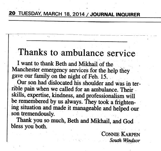 Letter to the Editor Praises ASMu0027s Beth Sheils and Mikhail Khan - employee thank you letter