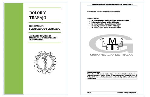 Dolor y Trabajo - Documento Formativo / Informativo