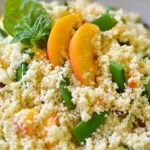 Couscous with Fresh Peaches & Sugar Snap Peas