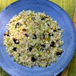 Couscous with Spring Onions, Pistachios and Dried Cherries