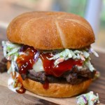 Steak Sandwich with Spicy Ketchup & Broccoli Slaw