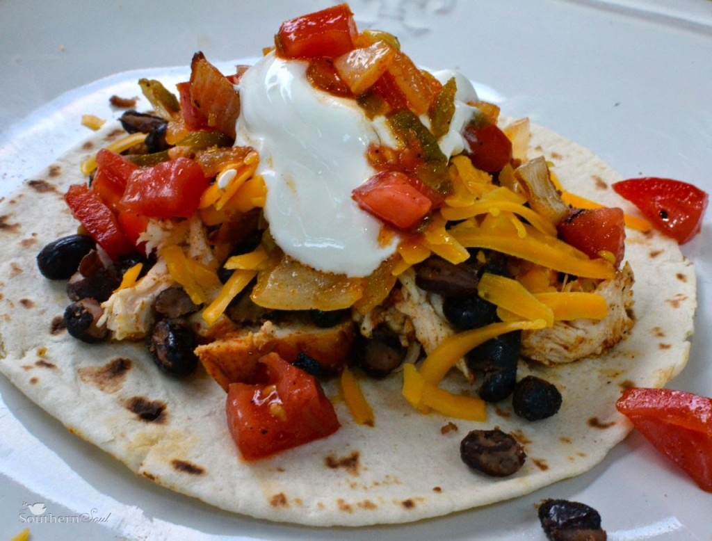 Grilled Chicken Tostadas with Charred Onion & Tomato Salsa
