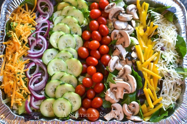 Fresh Salad for a Crowd | A Southern Soul