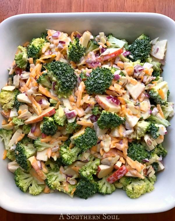 Broccoli Apple Salad in bowl