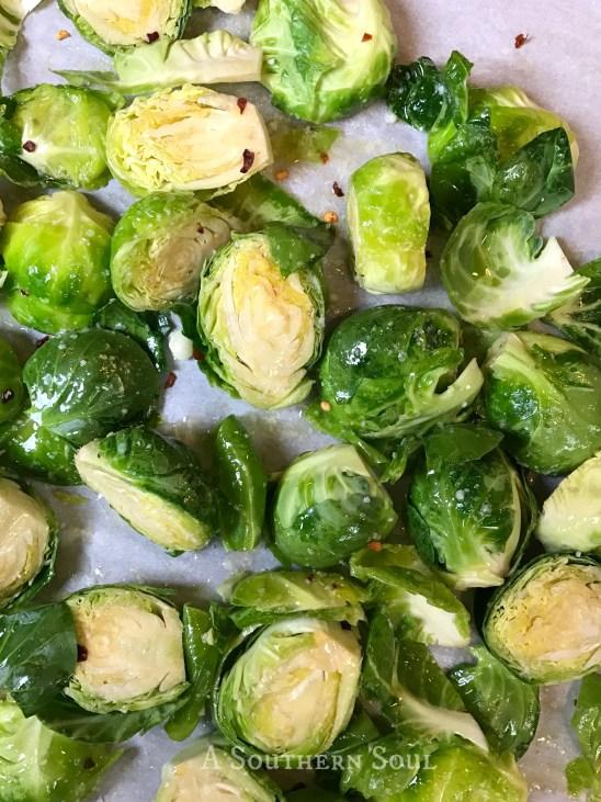 roasted brussel sprouts in seasonings