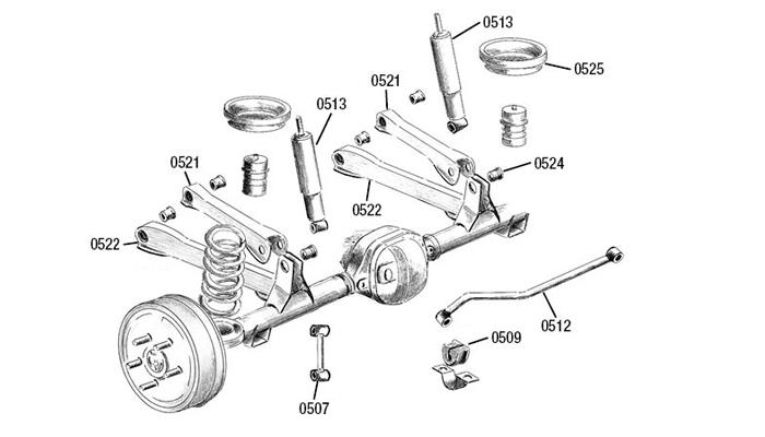 jeep tj rear suspension diagram