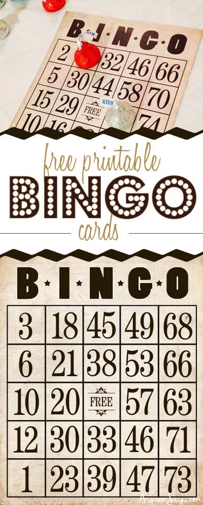 Free Printable Bingo Cards - Aspen Jay