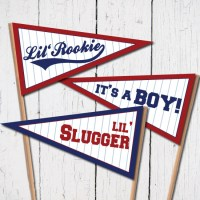 Baseball Baby Pennant Flags