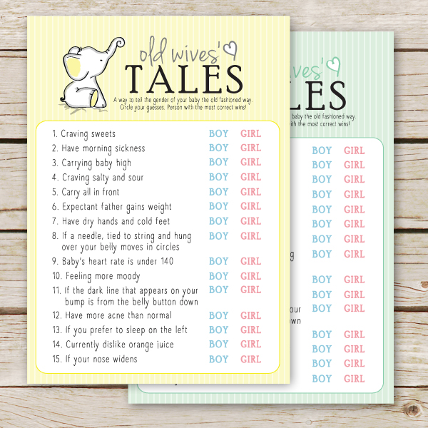 Free Printable Baby Shower Game - Old Wives Tales - Aspen Jay