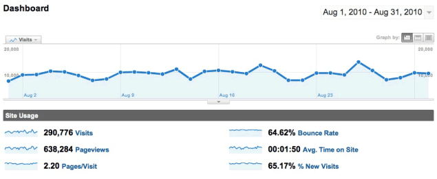 google analytics 08 2010