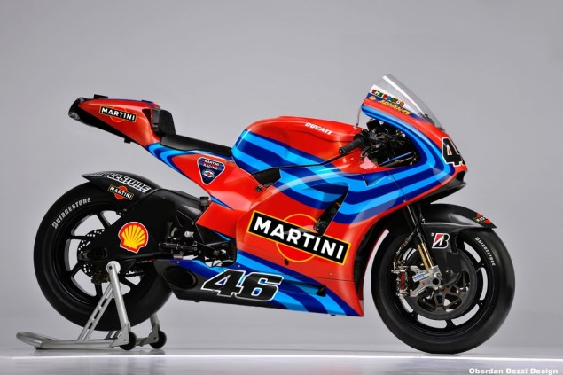 A Fantasy of a Fantasy   Oberdan Dreams of Ducatis, Martinis, and Rossi for MotoGP in 2011 Oberdan Bezzi Martini Ducati Rossi MotoGP Valentino Rossi 635x423