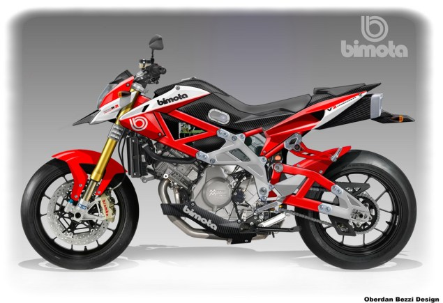 Oberdan Bezzis Second Take on a Bimota/Moto Morini   MMB2 FighterMotard Oberdan Bezzi Bimota MMB 2 Moto Morini FighterMotard 635x435