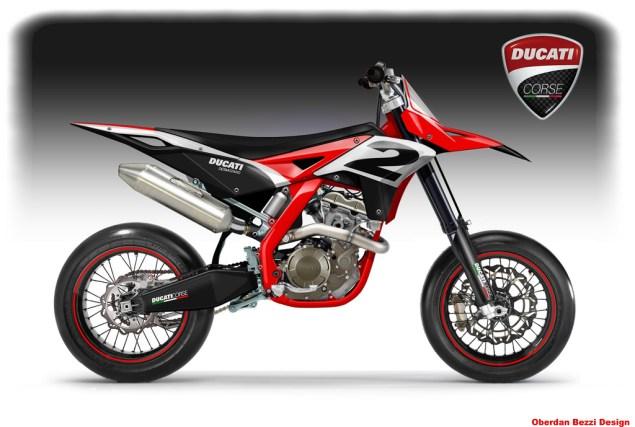 Bezzi Imagines Ducati Dirt/Supermotard Bikes Oberdan Bezzi Ducati Desmotard concept 635x427