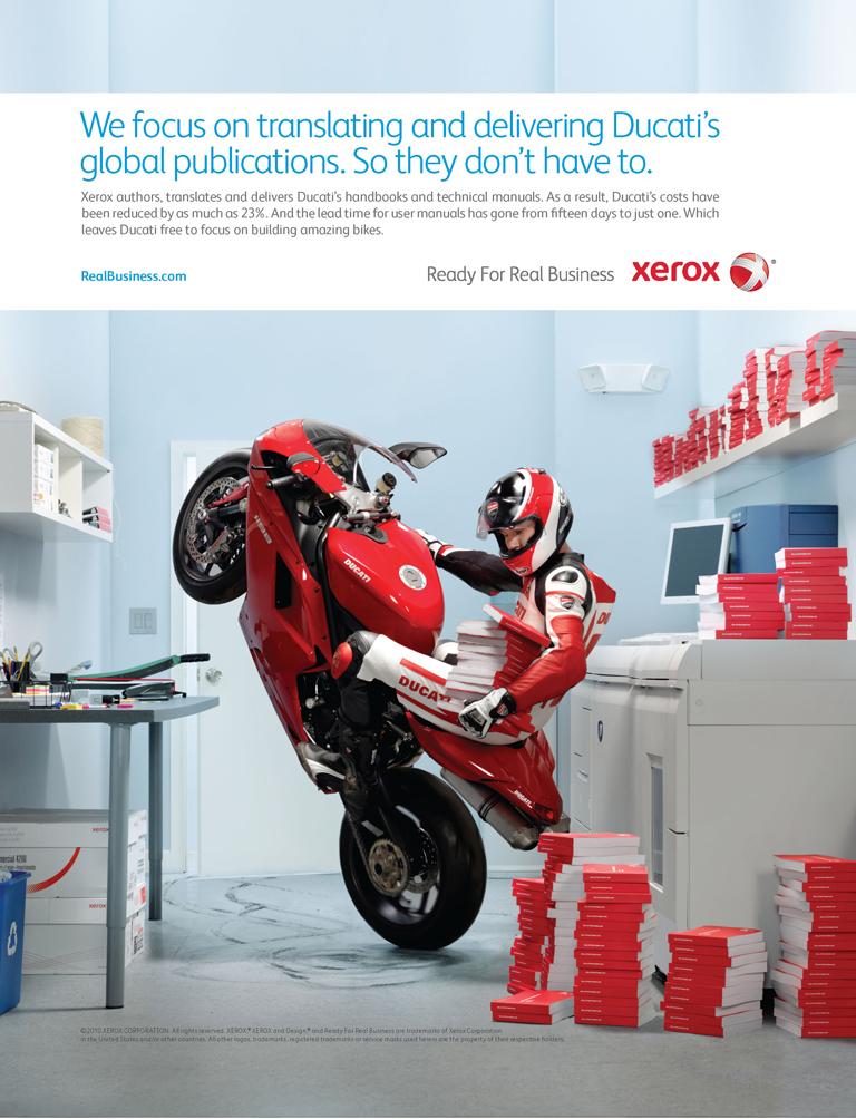 Xerox ad Xerox And Ducati Print ad Jpg