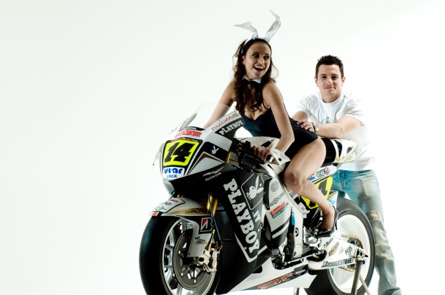 Silly Season: The Hondas of MotoGP LCR Honda Randy de Puniet Lauren Vickers 635x421