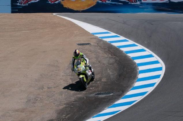 Aleix Espargaró Steps Down to Moto2 Aleix Espargaro Laguna Seca corkscrew 635x421