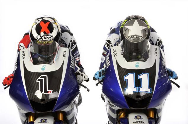 Yamahas 2011 MotoGP Livery Unveiling 2011 Yamaha MotoGP livery Lorenzo Spies 14 635x422