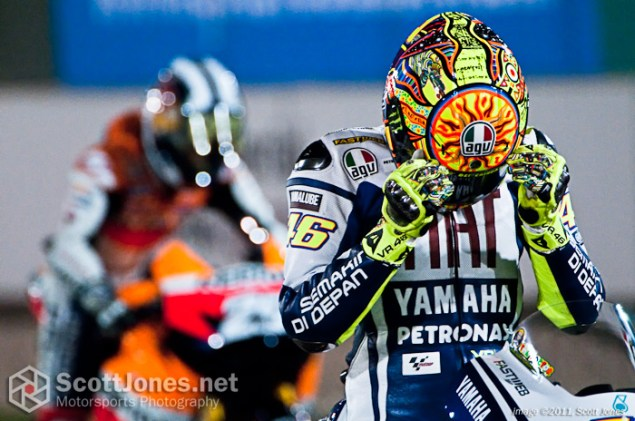Photo of the Week: Game Face Valentino Rossi Qatar 2010 MotoGP 635x421