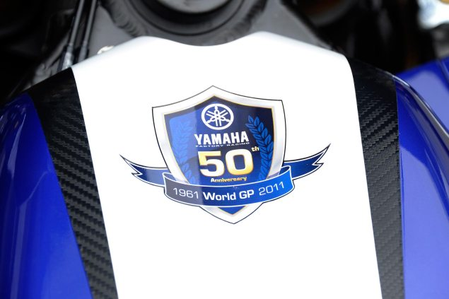 Yamaha Will Debut 2011 MotoGP Livery at Sepang Test Yamaha 50th anniversary motogp 635x423