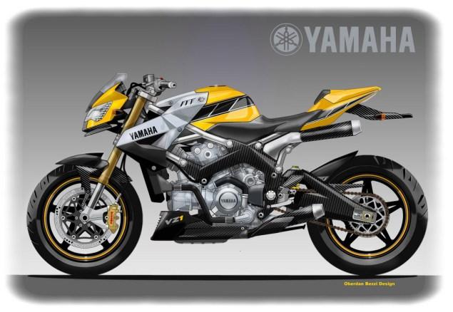 Yamaha VZ1 Concept by Oberdan Bezzi Yamaha VZ1 Kenny Roberts concept Oberdan Bezzi Design 635x438