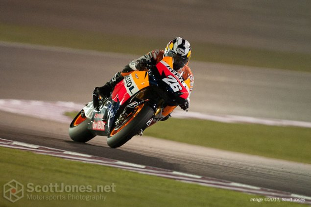 MotoGP: Qatar Test Day One Results Dani Pedrosa Repsol Honda Qatar test day one 635x422