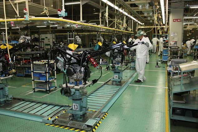 Honda, Suzuki, & Yamaha Halt Production After Earthquake Honda Kumamoto Plant 635x423