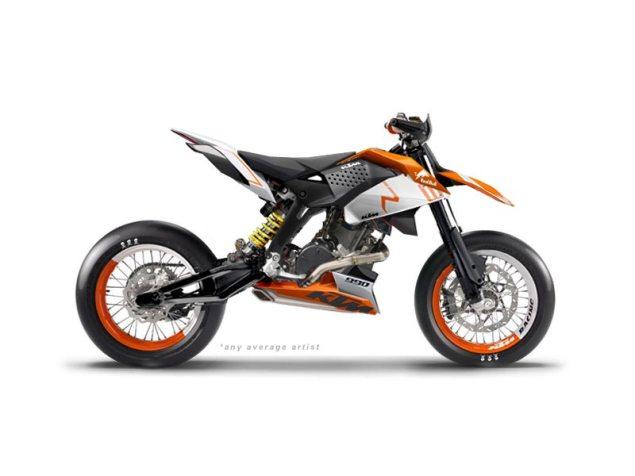 KTM Supermoto Concept by anyaverageartist KTM 990 Supermoto anyaverageartist 635x476