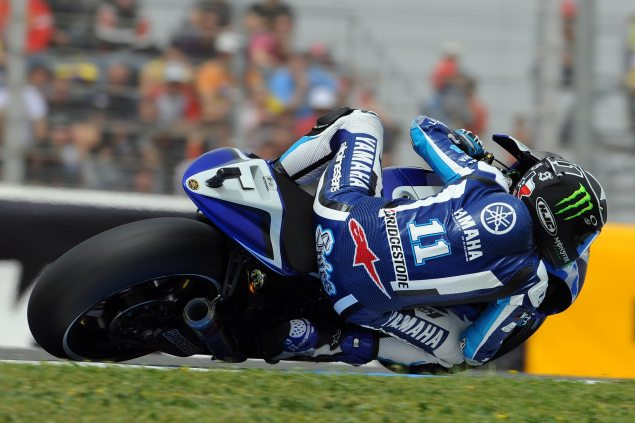 MotoGP: Crashes Shake Up Qualifying at Jerez Ben Spies Yamaha Racing MotoGP Jerez Qualifying 635x423