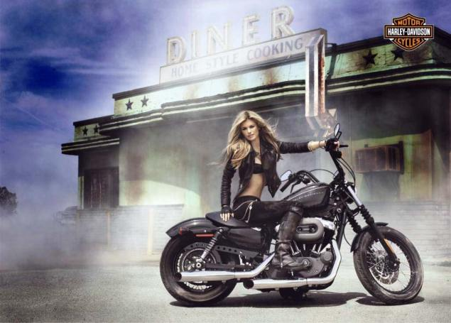 Harley Davidson Q1 2011 Earnings up 350% marisa miller harley davidson 635x455