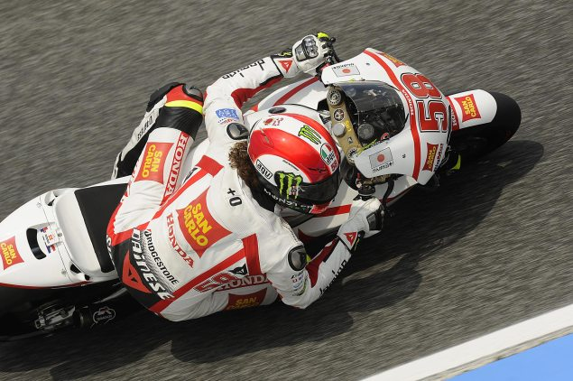 MotoGP: Testing Concludes at Estoril with Simoncelli Fastest Marco Simoncelli Estoril test 635x422