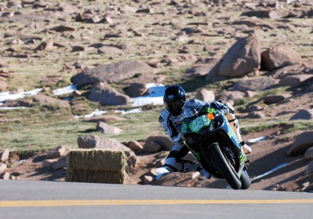 PPIHC: Chip Yates Races the Most Powerful Motorcycle Ever on Pikes Peak   Sets New Record for Electric Motorcycles Chip Yates Pikes Peak International Hill Climb 4 635x444