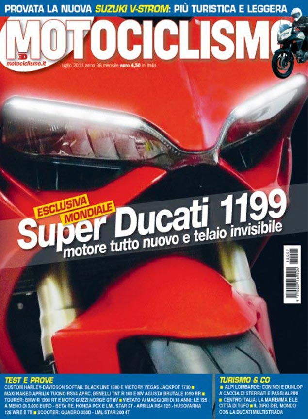 First Shots: 2012 Ducati Superbike 1199 2012 Ducati Superbike 1199 Motociclismo photo leak 1