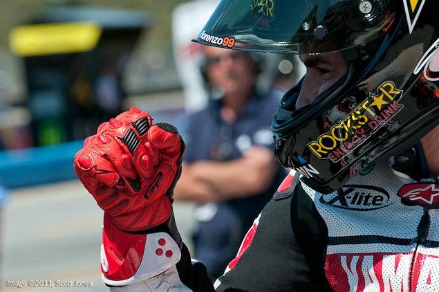 MotoGP: Yamahas vs. Hondas During Qualifying at MotoGP Jorge Lorenzo MotoGP Qualifying Laguna Seca