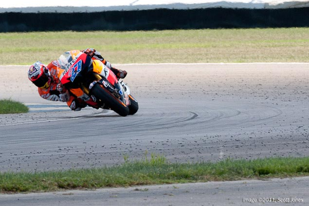 Photo of the Week: Forging Ahead Casey Stoner Indianapolis GP dirt debris track Scott Jones