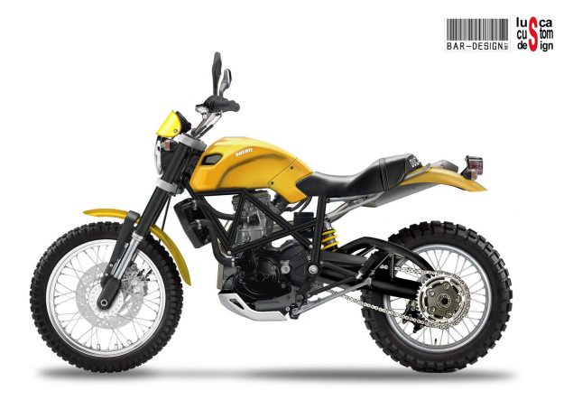 Ducati Scrambler Concepts by Luca Bar & Lusca Custom Ducati Scrambler Luca Bar Design 635x443