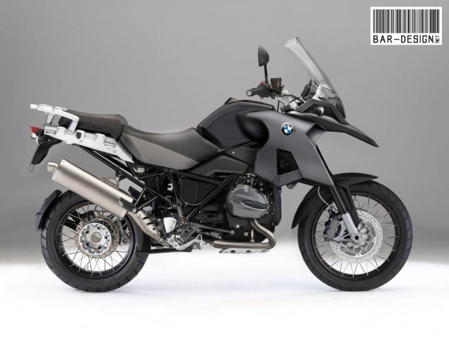Rendered: 2012 BMW R1200GS 2012 BMW R1200GS water cooled render black 635x476