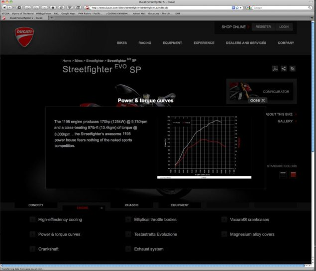 Ducati Streetfighter EVO SP Internet Leak Faked Ducati Streetfighter EVO SP screen capture fake 635x544