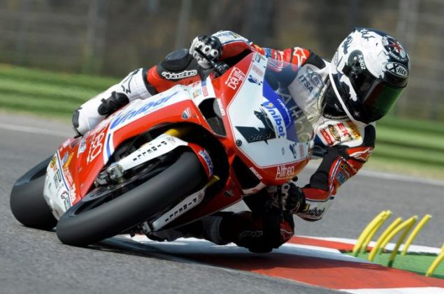 WSBK: Another Track Record Drops in a Duel Over Pole in Superpole at Imola checa pirelli imola 635x421