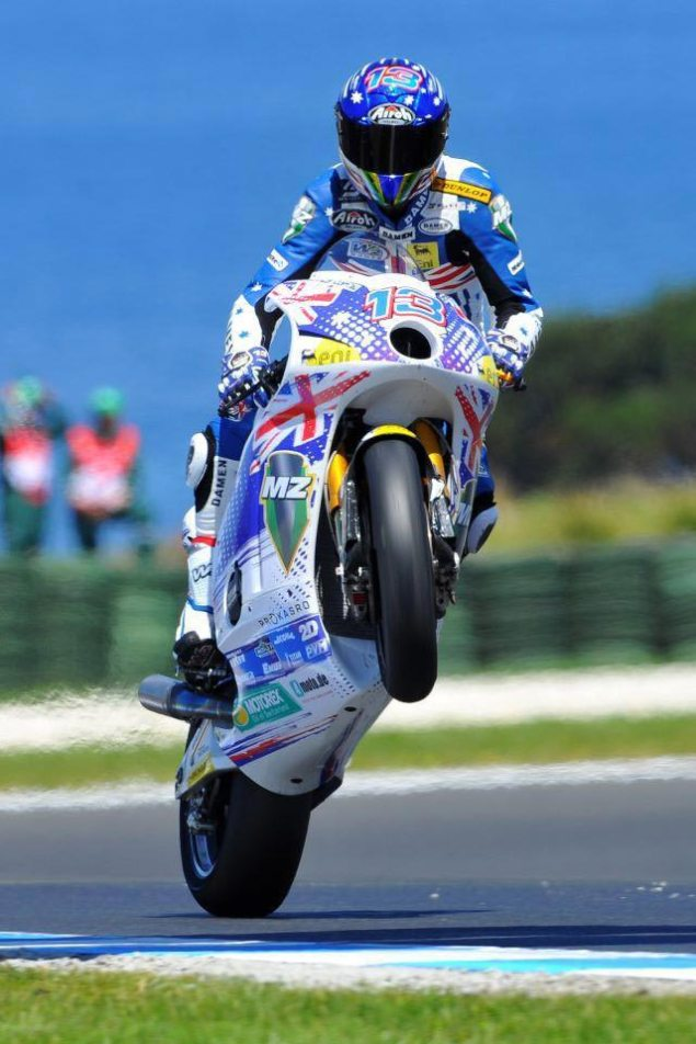 Anthony West Returns to MotoGP on a CRT Ride Anthont West MZ Moto2 635x952