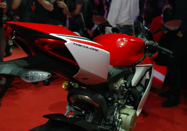 Up Close with the Ducati 1199 Panigale S Tricolore Ducati 1199 Panigale S Tricolore EICMA 08 635x444