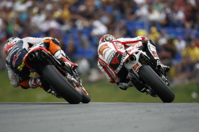 Andrea Dovizioso: Marco Was My Biggest Rival Ever Marco Simoncelli Andrea Dovizioso rivalry 635x421