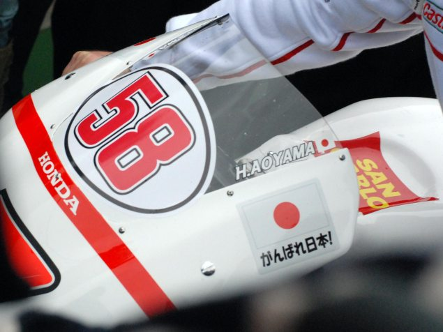 Photos: Marco Simoncelli Tribute Ride at Valencia Marco Simoncelli MotoGP tribute Valencia 21 635x476