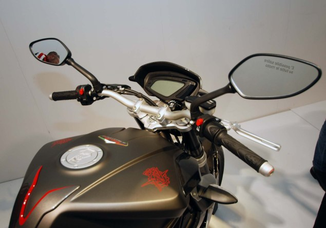 Up Close with the MV Agusta Brutale 675 2012 MV Agusta Brutale 675 EICMA 13 635x444